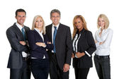 Dynamic business team on white background — Stock Photo