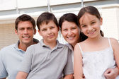 Beautiful young family together - Outdoor — Stock Photo