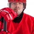 Stock Photo: Portrait of professional hockey player