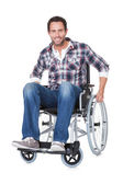 Portrait of middle age man in wheelchair — Stock Photo