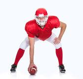 Portrait of American Football player — Stock Photo