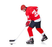 Professional hockey player skating on ice — Stock Photo