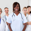 Group of successful happy multi-ethnic doctors — Stock Photo