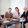 Diverse business group at meeting in office — Stock Photo