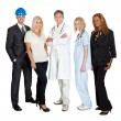 Stock Photo: Of different professions together on white