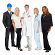 Of different professions together on white — Stock Photo