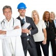 Royalty-Free Stock Photo: Group of in different professions