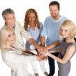 Royalty-Free Stock Photo: Group of stacking their hands together