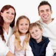 Happy family with their children — Stock Photo