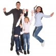 Portrait of happy family with their children — Stock Photo