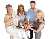 Group of stacking their hands together — Stock Photo