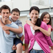 Beautiful young family together — Stock Photo