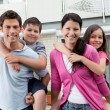 Beautiful young family together - Stock Photo