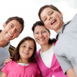 Portrait of cheerful young family together — Foto de Stock