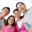 Portrait of cheerful young family together — Stockfoto