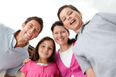 Portrait of cheerful young family together — Stock Photo