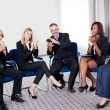 Team of happy successful businesspeople — Stock Photo