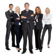 Team of successful business on white - Stock Photo