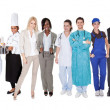 Стоковое фото: Group of representing diverse professions
