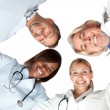 Stock Photo: Multi racial group or happy doctors smiling