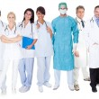Foto Stock: Large group of doctors and nurses
