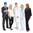 Workers of different professions together on white — Stock Photo