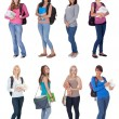 Beautiful young students — Stock Photo