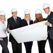 Successful construction workers - Stock Photo