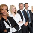 Confident business team with headsets — Stock Photo #21241089