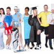 Foto Stock: Group of representing diverse professions