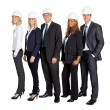 Stock Photo: Team of confident civil engineer against white