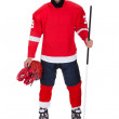 Professional hockey player after game — Stock Photo
