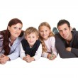 Happy young family spending time together — Stock Photo