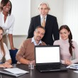 Business in a work meeting in the office — Stockfoto