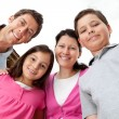 Portrait of young family looking happy — Stock Photo #21241605