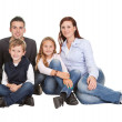 Portrait of happy family with their children — Stock Photo #21241637