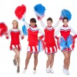 Group of young cheerleaders — Foto Stock