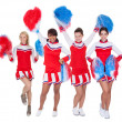 Group of young cheerleaders — Photo