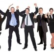 Royalty-Free Stock Photo: Group of excited business