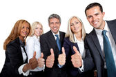 Smiling group of businesspeople — Stock Photo