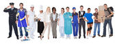 Group of representing diverse professions — Stockfoto