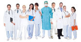 Large group of doctors and nurses — Foto Stock