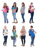 Belles jeunes étudiants — Photo