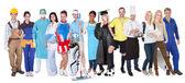 Skupina zastupující různé profese — Stock fotografie