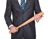 Gangster with baseball bat — Stock Photo