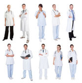 Medical workers, doctors, nurses — 图库照片