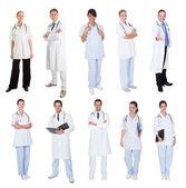 Sjukvårdsarbetare, läkare, sjuksköterskor — Stockfoto