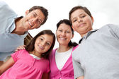Portrait of young family looking happy — Stock Photo