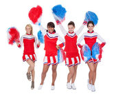 Group of young cheerleaders — Stock Photo