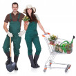 Portrait of male and female gardeners — Stock Photo